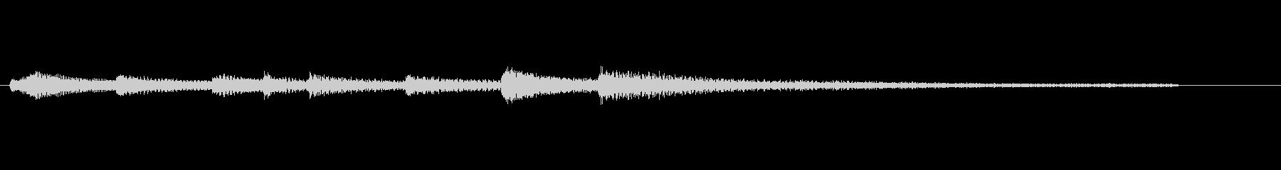ピアノの爽やかな起動音の未再生の波形