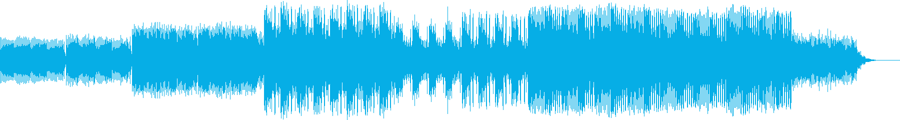 ほのぼのと気持ちいい朝のイメージ曲の再生済みの波形