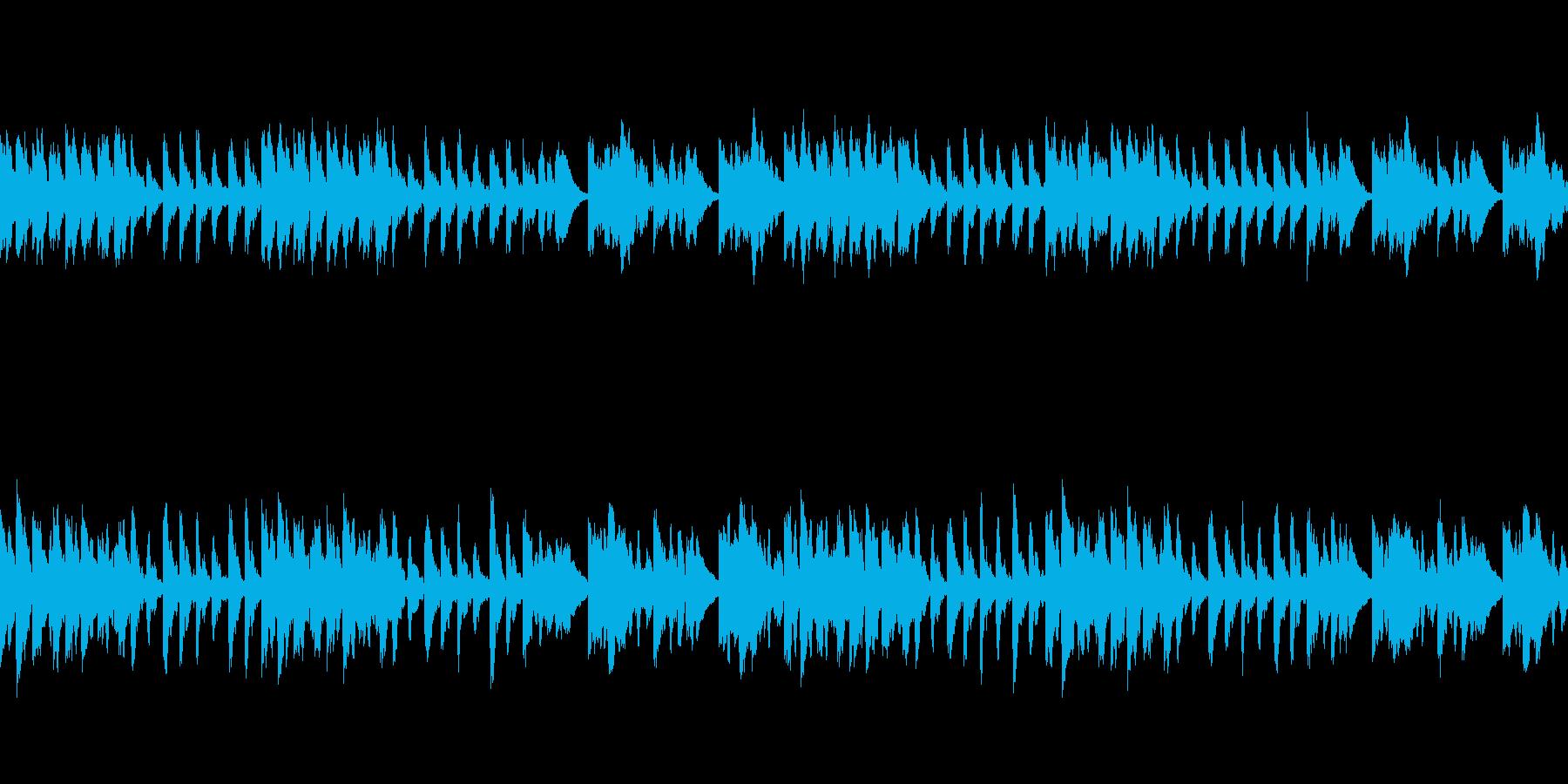 涼しく落ち着いたリラクゼーション音楽の再生済みの波形