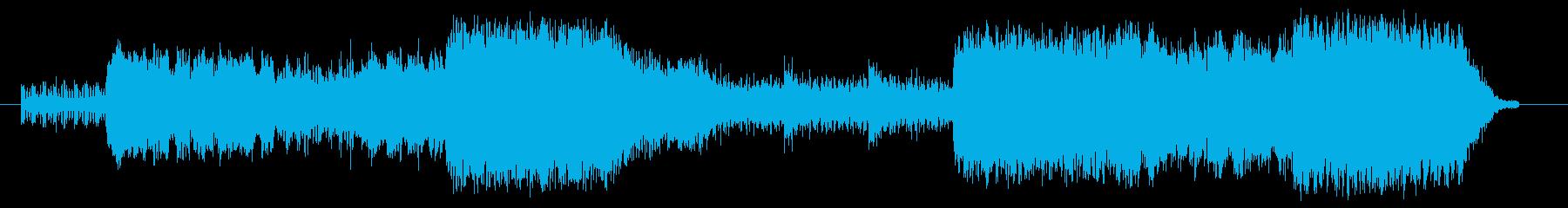 何かから逃げているイメージの曲の再生済みの波形