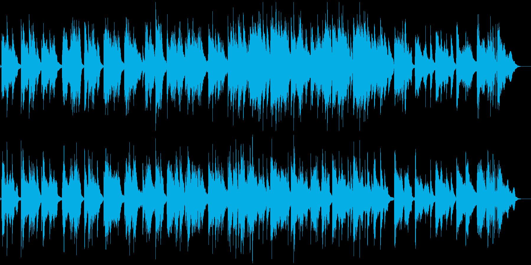 ピアノが美しいジャズボサノバBGMの再生済みの波形