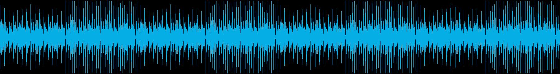 ジャジー、秋、カフェお洒落ビートの再生済みの波形