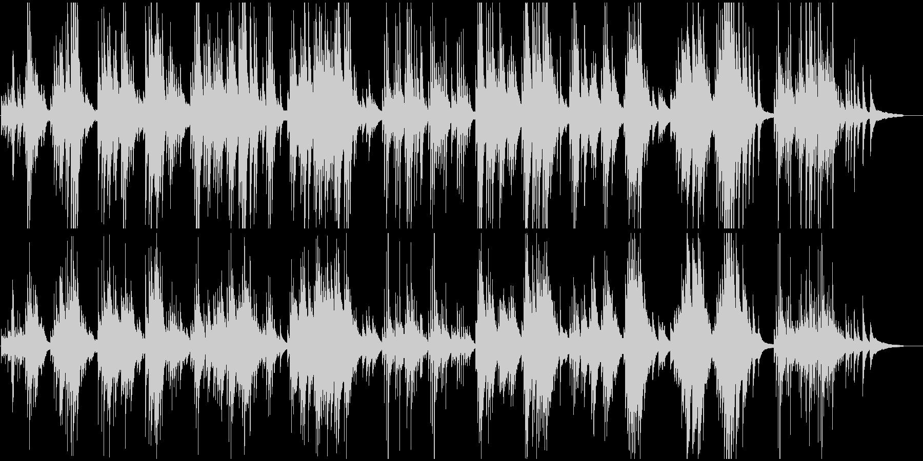 ロマンティックなピアノワルツの未再生の波形