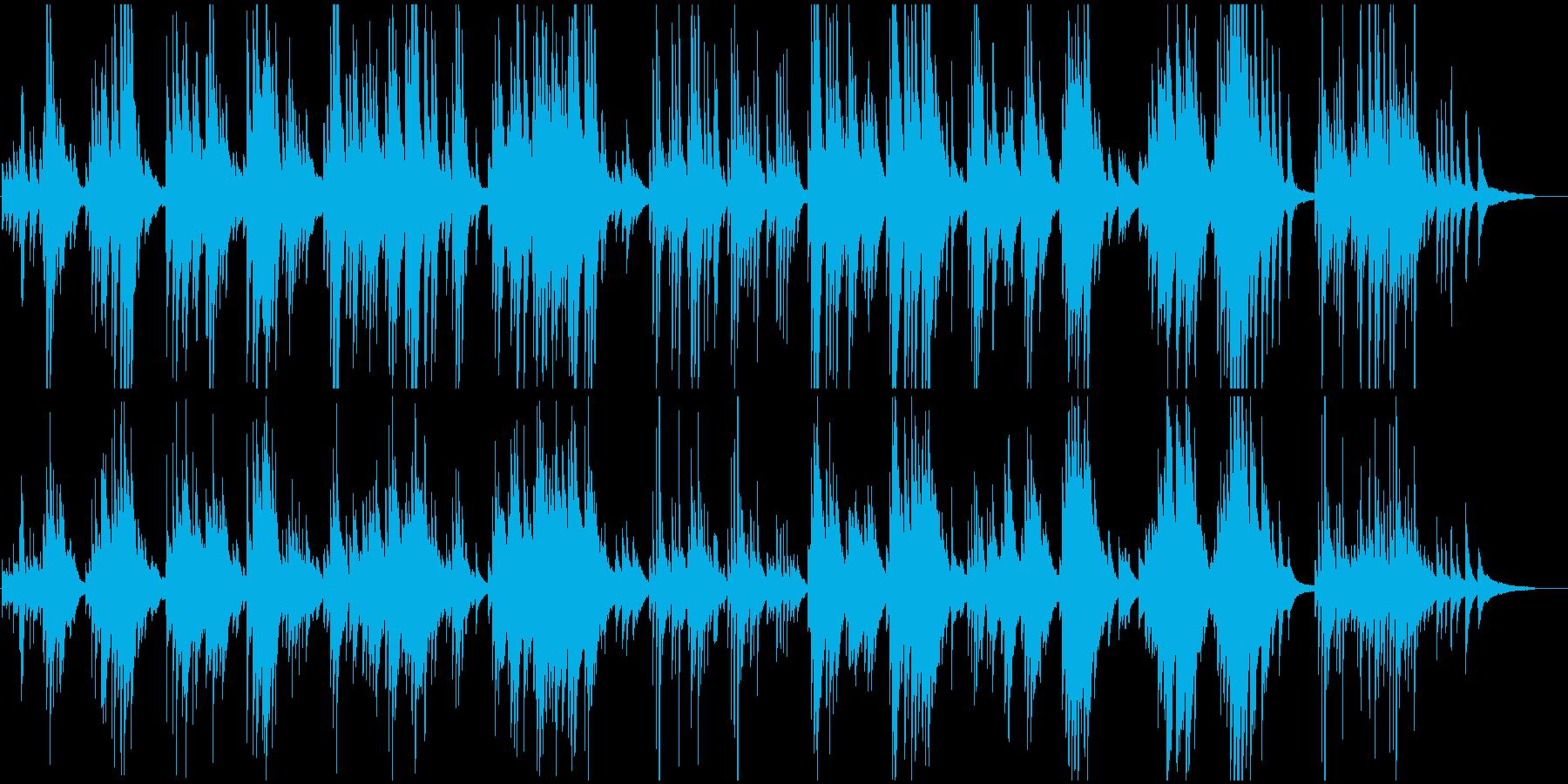 ロマンティックなピアノワルツの再生済みの波形