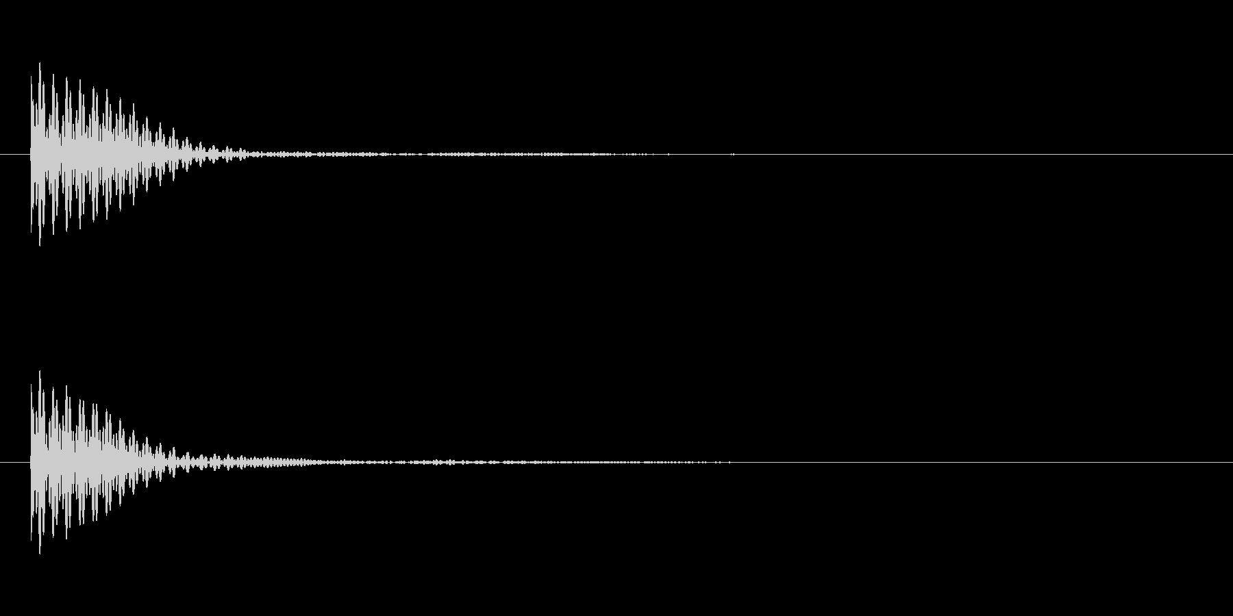 ポン カーソル音 タップ音 D#-17_の未再生の波形
