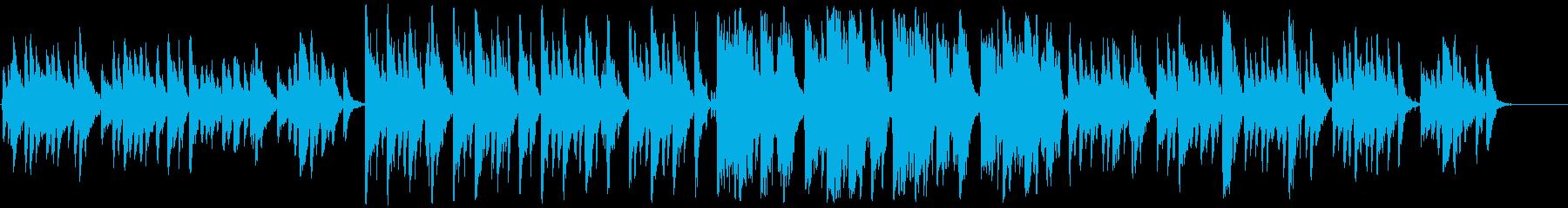 琴と尺八の落ち着いた味のある和風曲の再生済みの波形