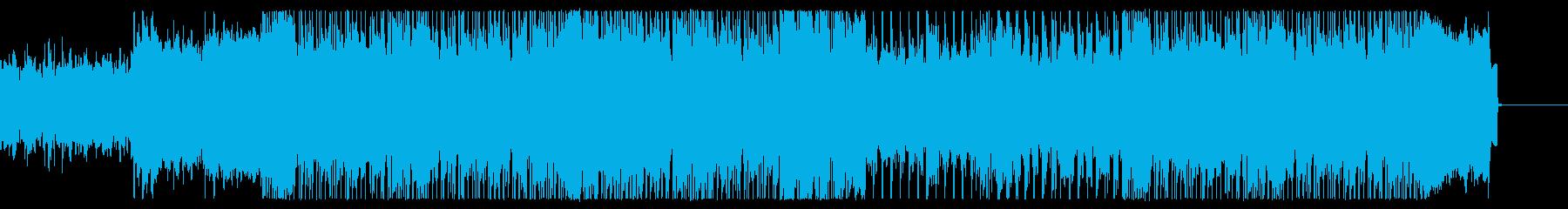 裏社会をイメージしたハードロックの再生済みの波形