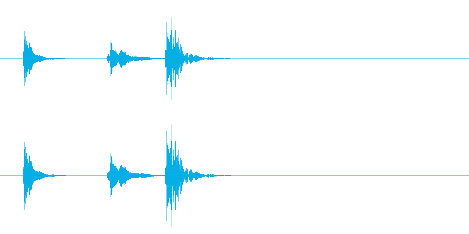 アニメ アクション ボタン ピコの再生済みの波形