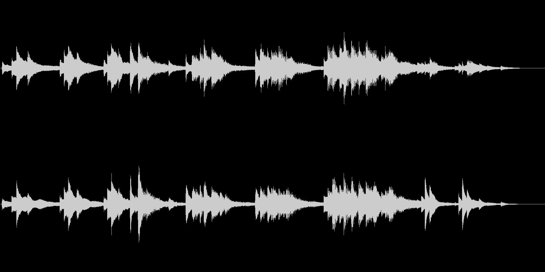 生ピアノ録音-静かな青い海 癒しのピアノの未再生の波形