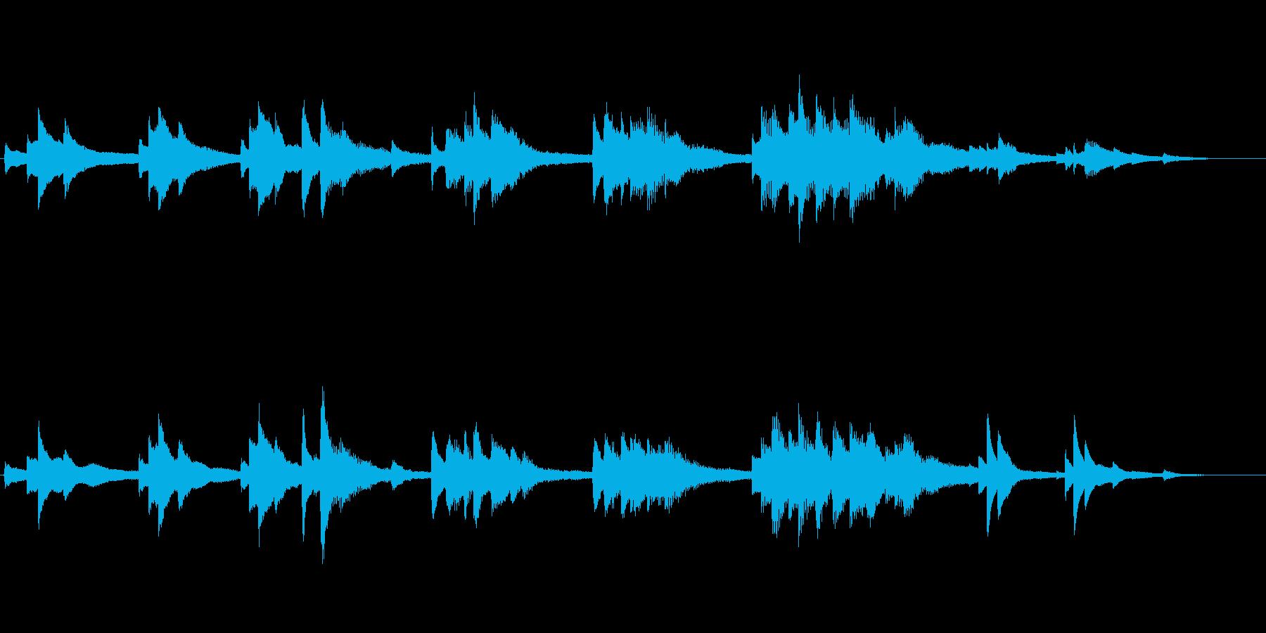 生ピアノ録音-静かな青い海 癒しのピアノの再生済みの波形