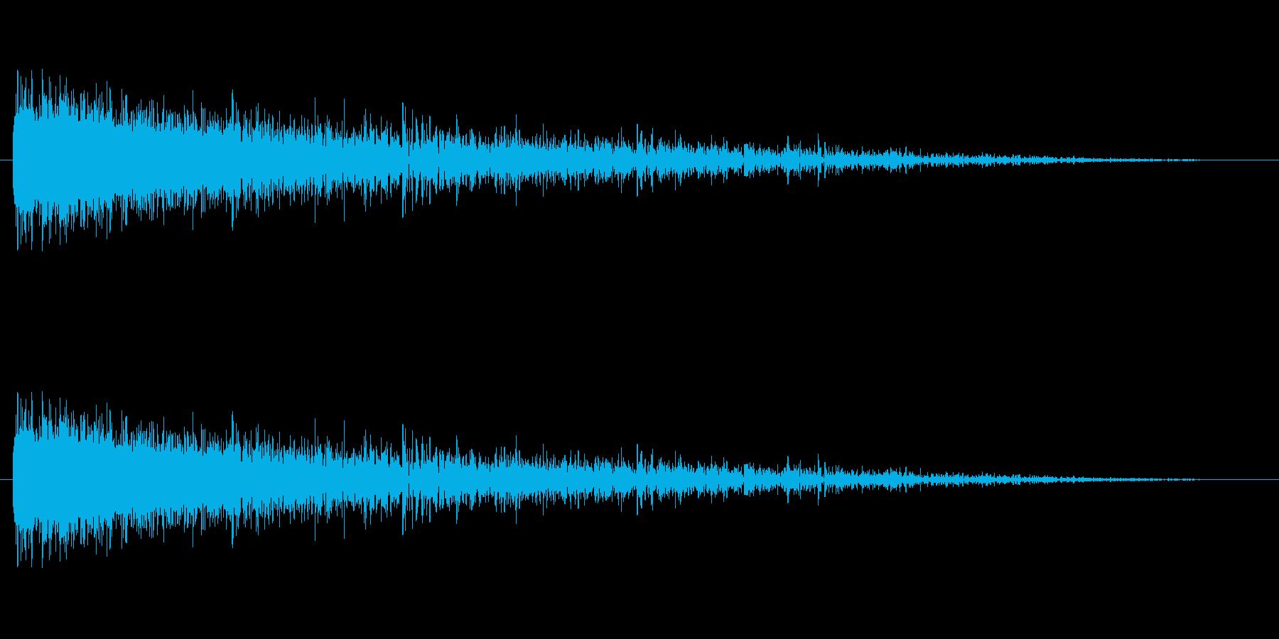特撮宇宙船の離陸の再生済みの波形
