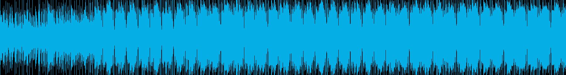 洋楽、無機質なElectronicの再生済みの波形