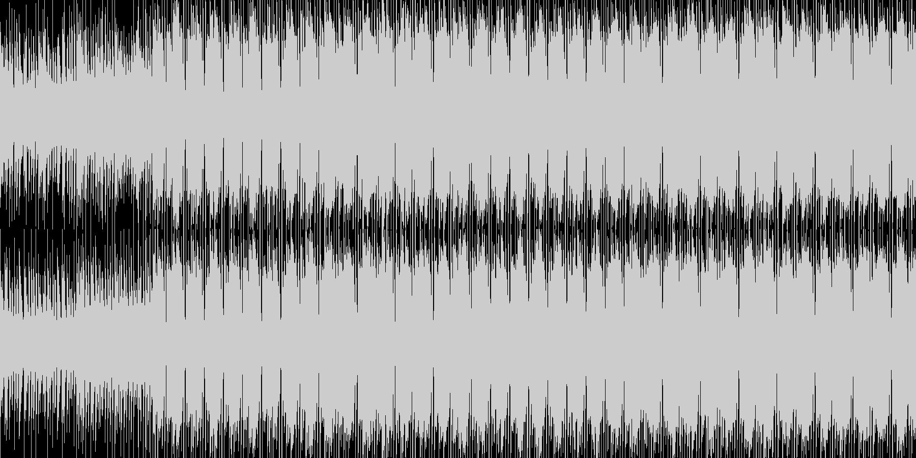 洋楽、無機質なElectronicの未再生の波形