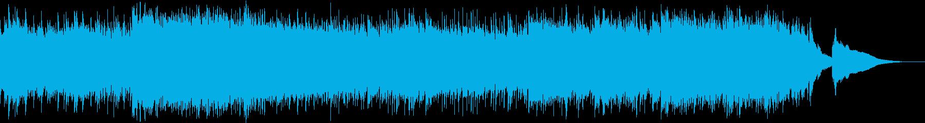 エレキギターの幻想的アンビエントの再生済みの波形