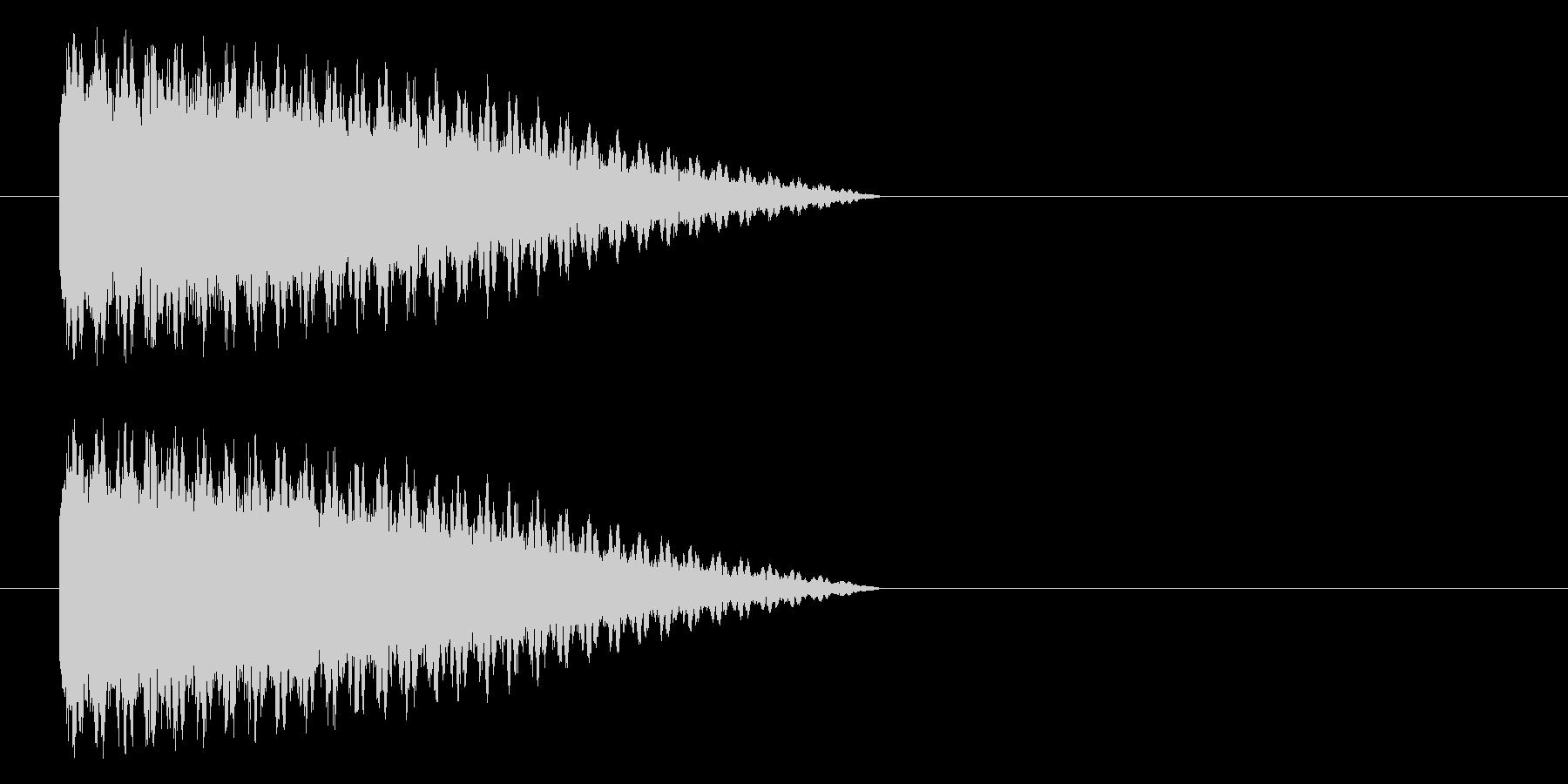 ボシューン(機械、蒸気、スチーム)の未再生の波形