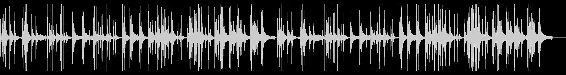 ピアノの残響音が美しい静かで瞑想的な楽曲の未再生の波形