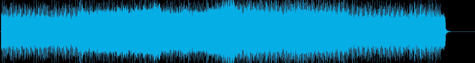 格闘・レースに使える重厚ハードロックの再生済みの波形