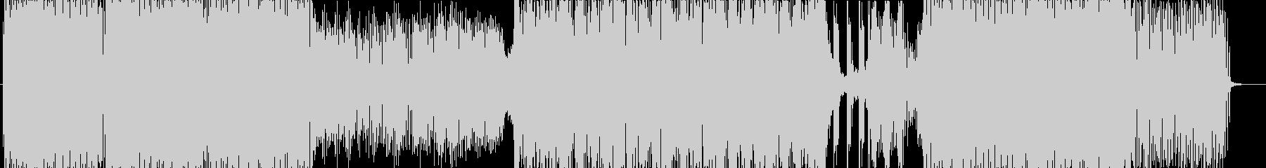 ダンサンブルなトランス曲の未再生の波形