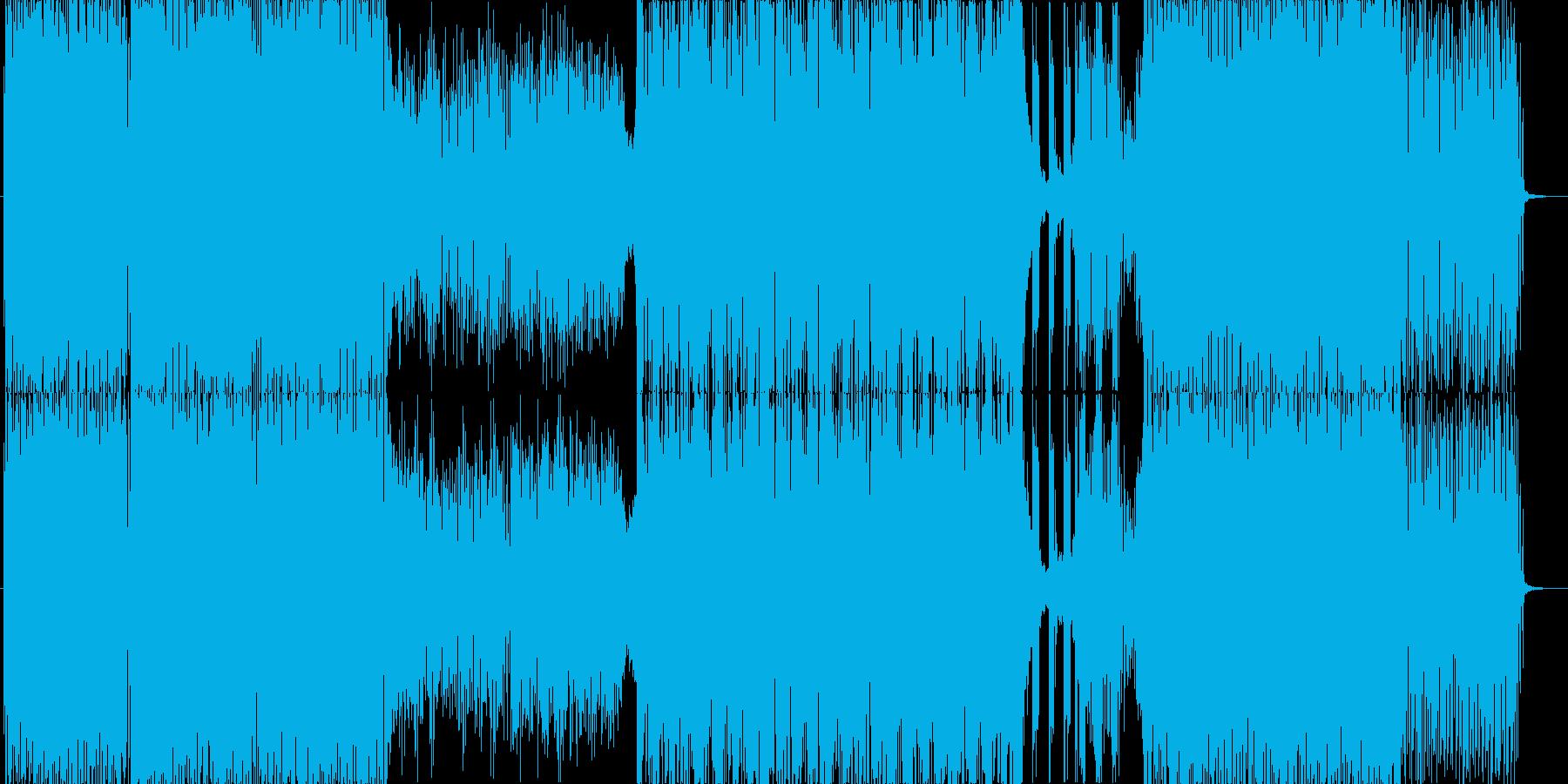 ダンサンブルなトランス曲の再生済みの波形