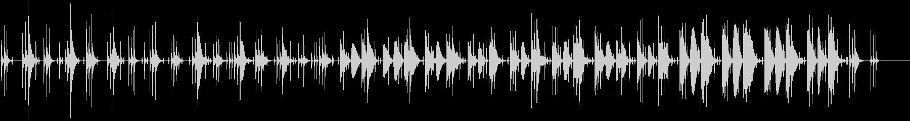 同じフレーズが繰り返される短い曲の未再生の波形
