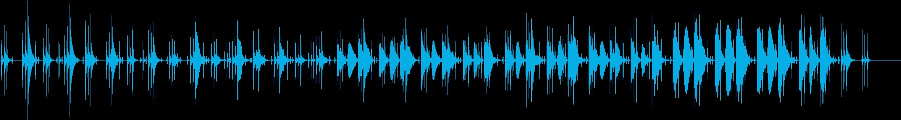 同じフレーズが繰り返される短い曲の再生済みの波形