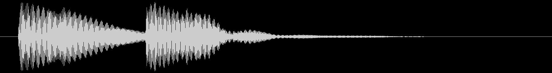ポコン 高 (ボタン、スタート音)の未再生の波形