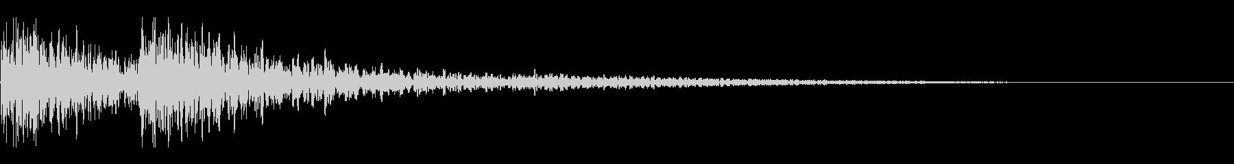 和太鼓 ドンドン01の未再生の波形