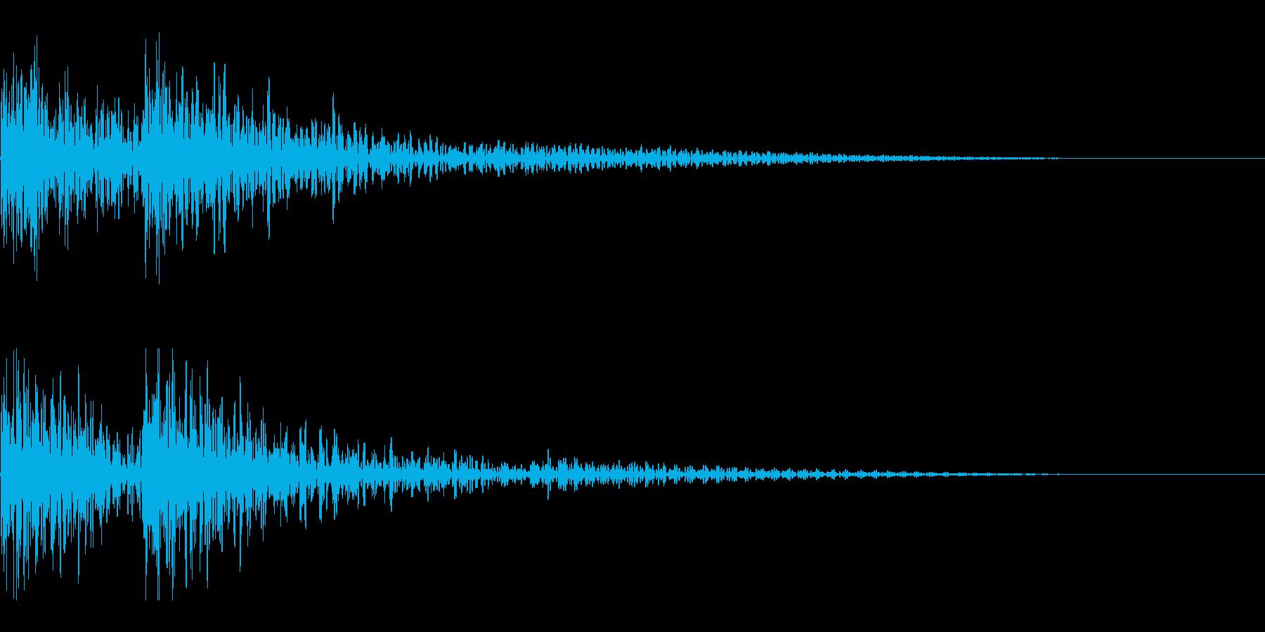 和太鼓 ドンドン01の再生済みの波形