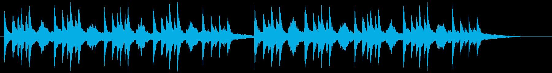 重厚で空間の広がりを感じさせるピアノ曲の再生済みの波形