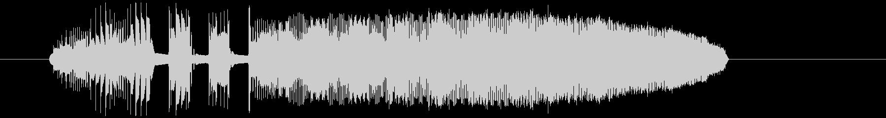 レトロなパワーアップ音の未再生の波形