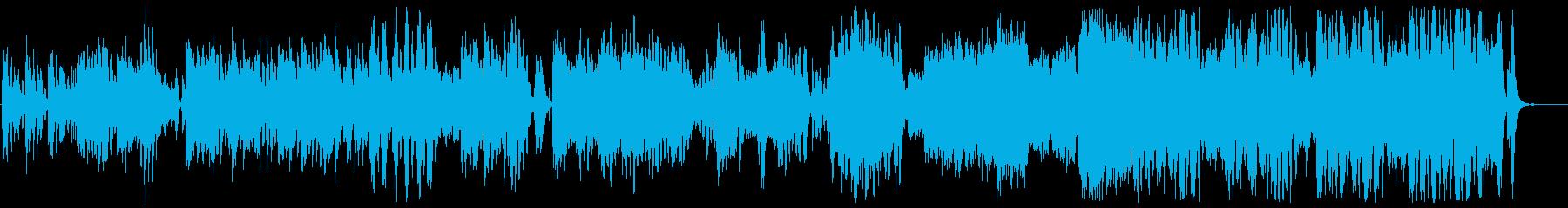 メルヘンで優しいシンセサウンドの再生済みの波形