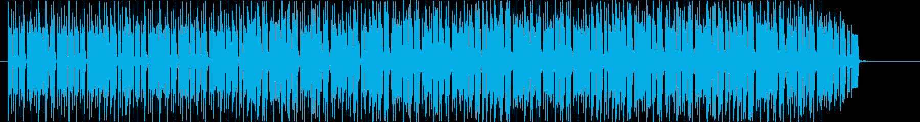 報道番組風四つ打ちテクノの再生済みの波形
