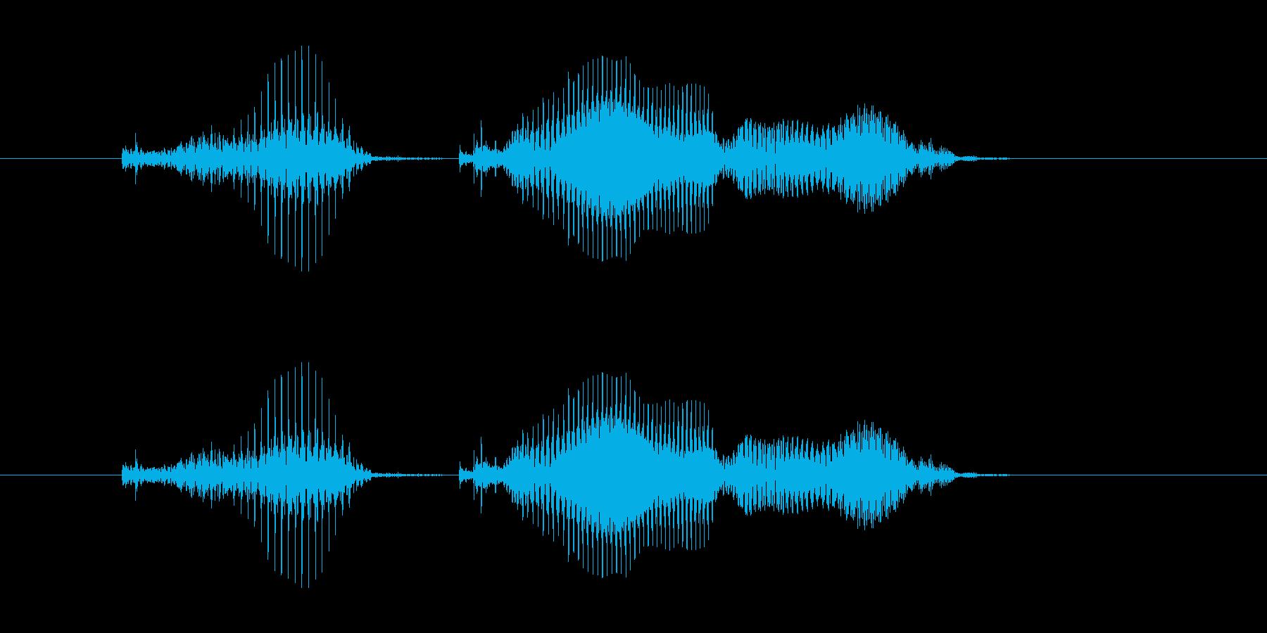 アプリ向け男性 計算「かける(×)」の再生済みの波形