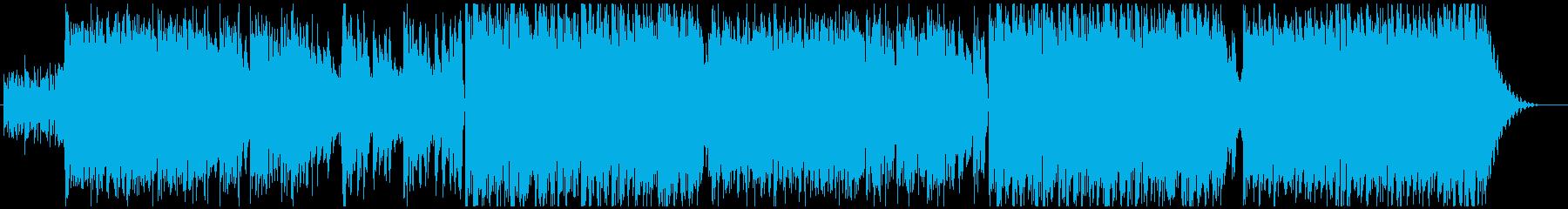 大気のテクスチャと電子ビートの駆動...の再生済みの波形