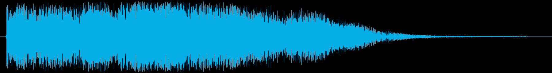 レベルアップっぽいブラスジングルの再生済みの波形