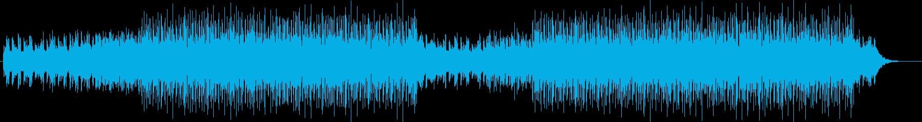 おしゃれでなめらかなメロディーの再生済みの波形
