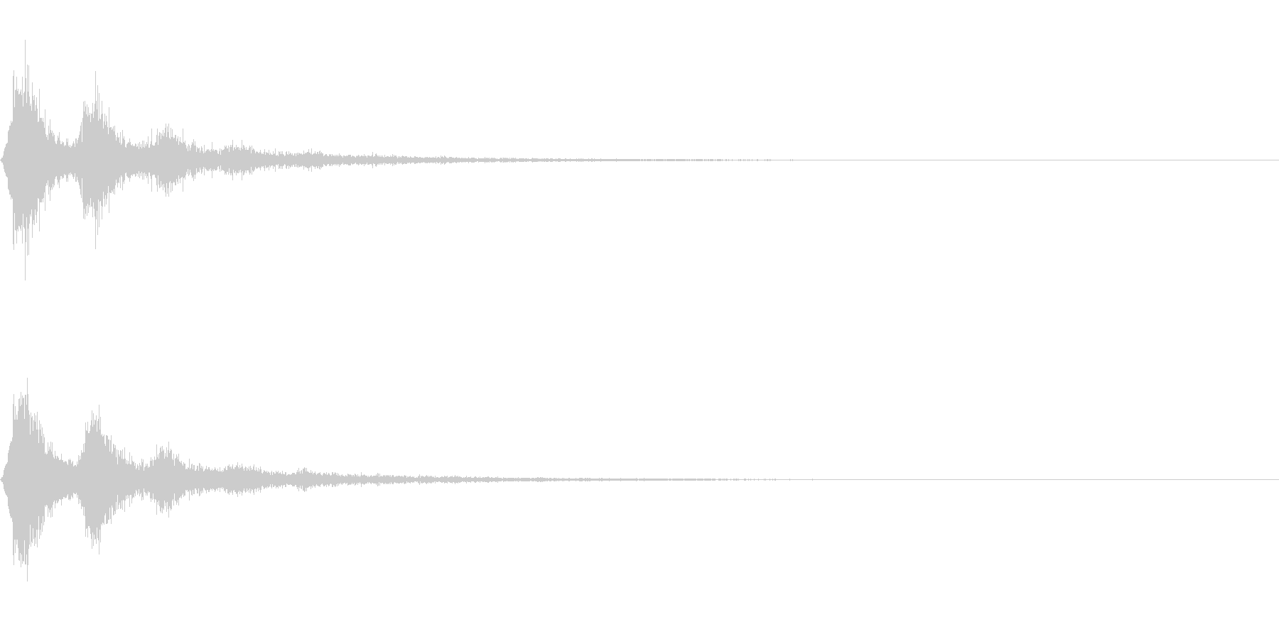 TVFX 風切り音 PR 目立たせSE1の未再生の波形