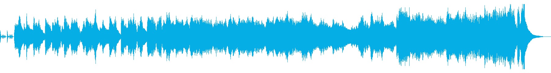 ブラスバンドのイメージ、出発の曲の再生済みの波形