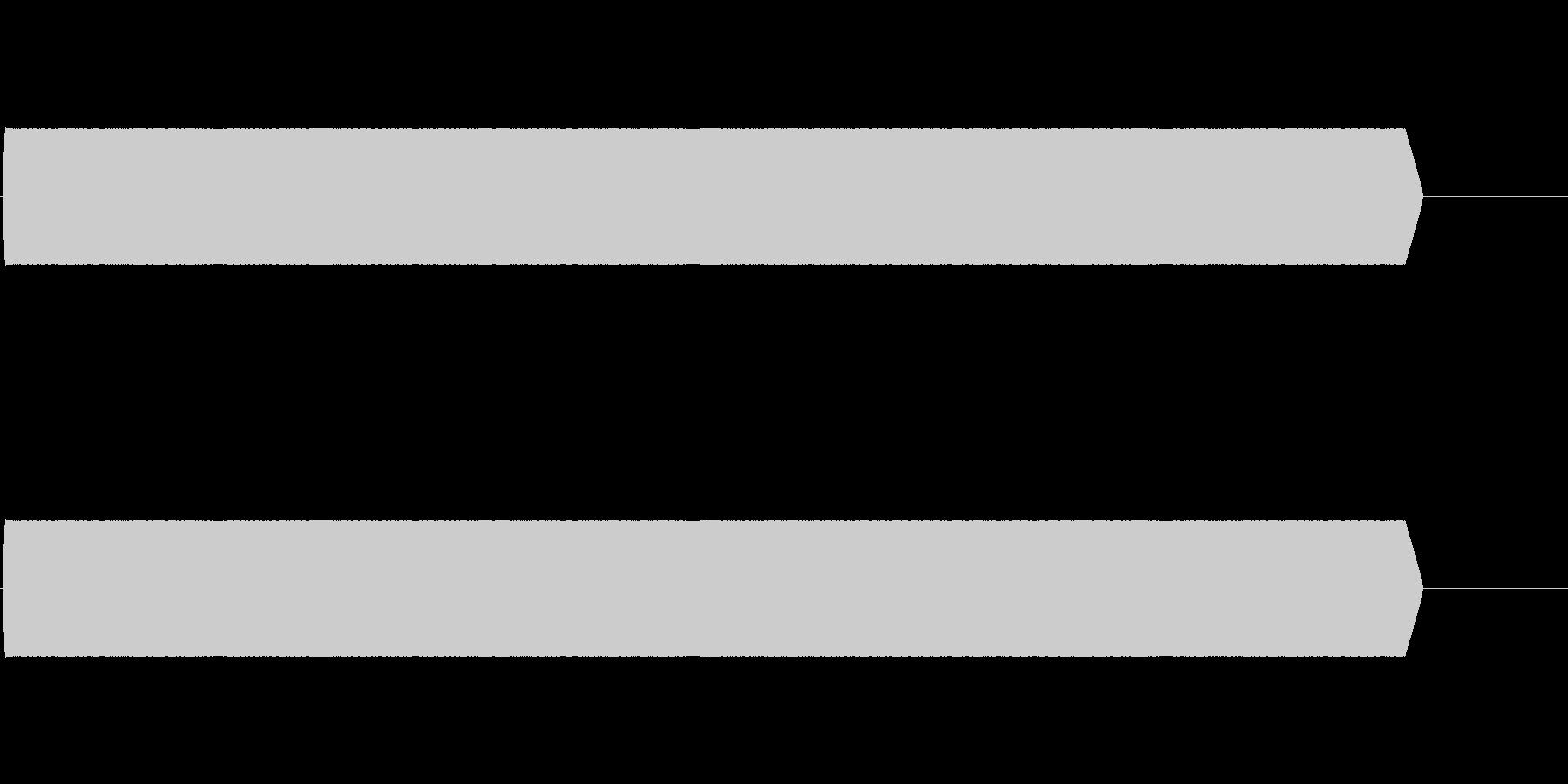 ピーッ(ロックオン)あるいは電話電子音の未再生の波形