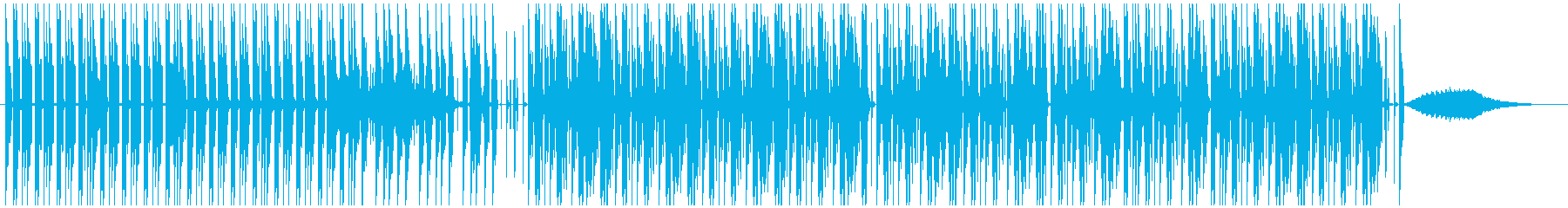 無機質で硬質なダブステップBGMの再生済みの波形