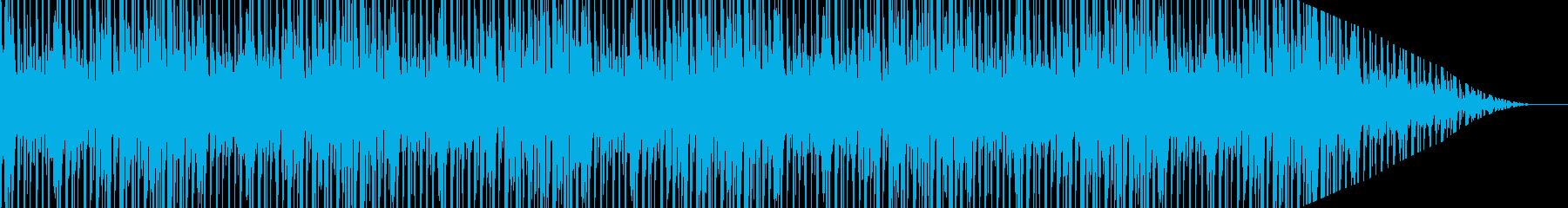 軽快なリズムで弾むような明るいポップ曲の再生済みの波形
