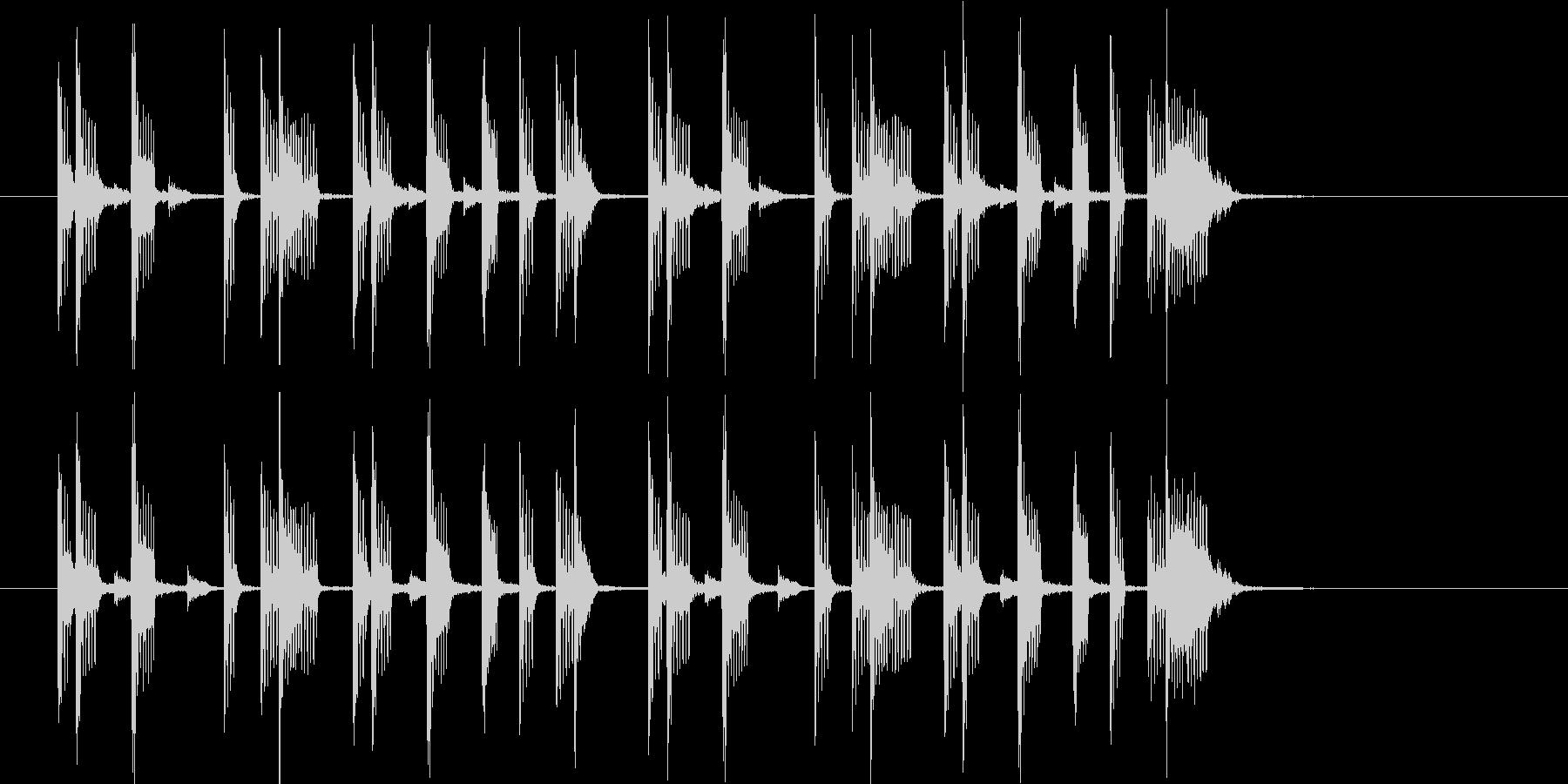 オシャレなR&Bポップスの未再生の波形