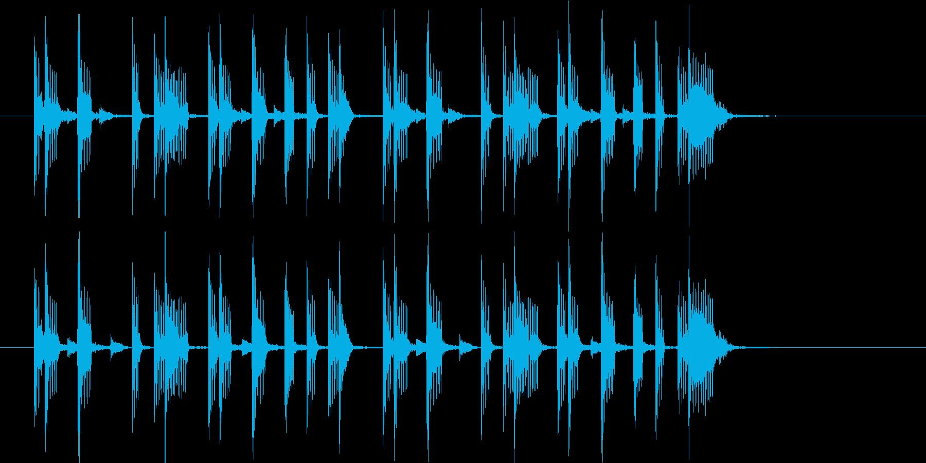 オシャレなR&Bポップスの再生済みの波形