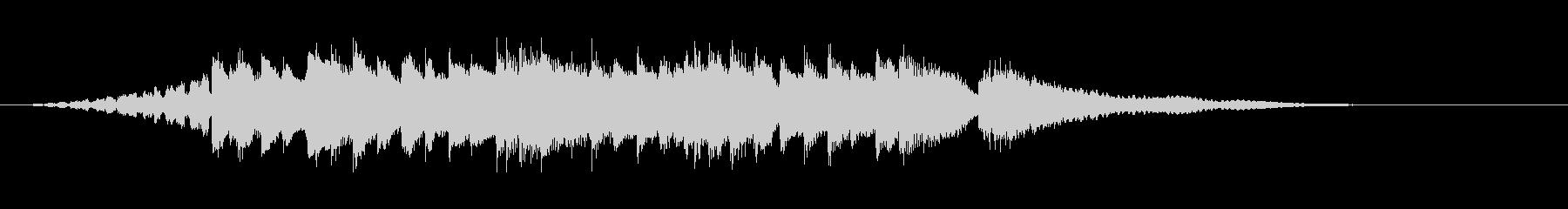 ピアノによる耳馴染みの良いジングルの未再生の波形