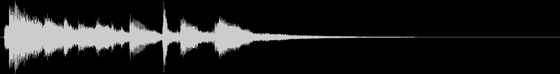 【ジングル】サウナ用のギター:水風呂の未再生の波形