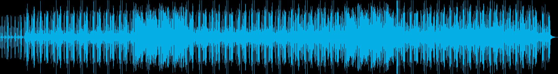 淡々とした映像に合うアシッドグルーヴの再生済みの波形