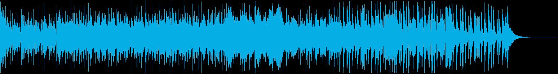 ギターとピアノの無臭音楽の再生済みの波形