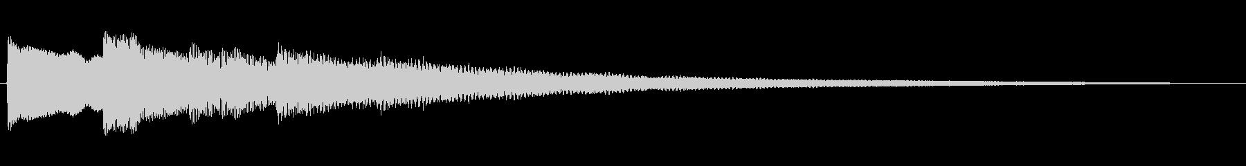 不穏なエレピのジングルの未再生の波形