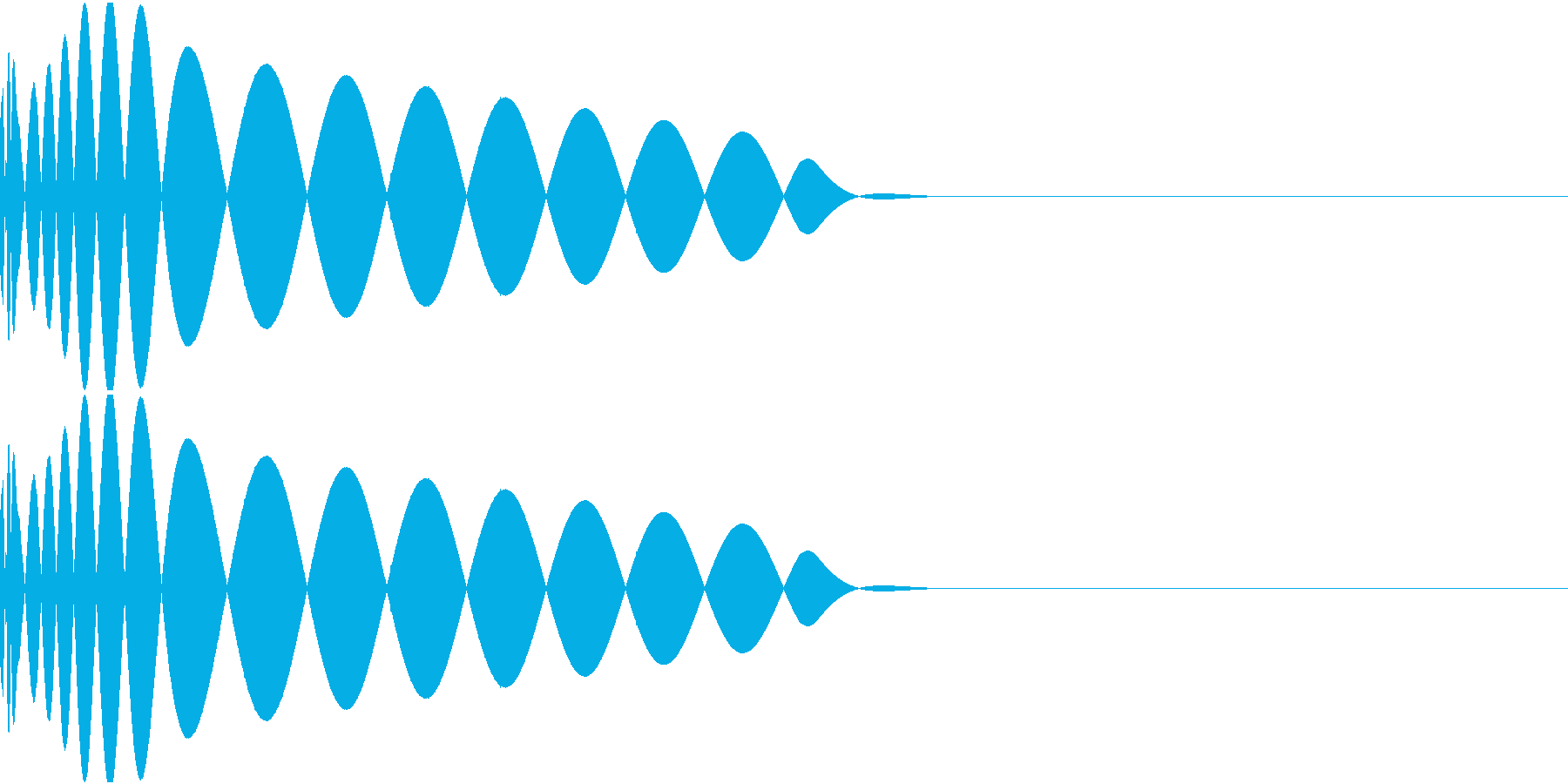 DTM Kick 40 オリジナル音源の再生済みの波形