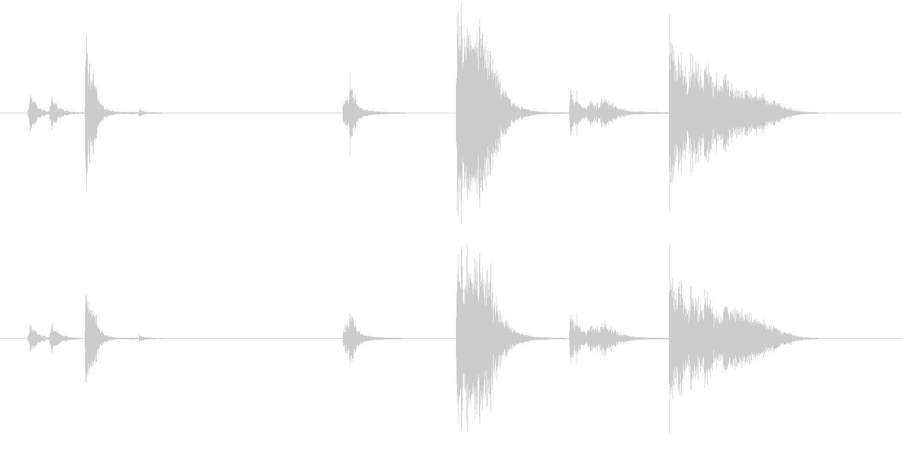 【生録音】お箸の音 30 食べ終わるの未再生の波形